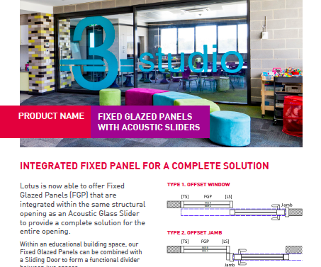 Architects and Builders Technical Guide - Acoustic Glazed Slider Solutions
