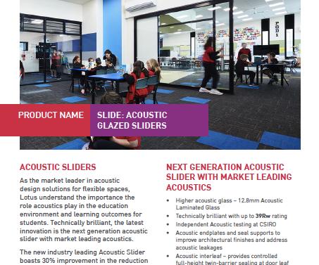 Technical Bulletin - Acoustic Glazed Slider Solutions